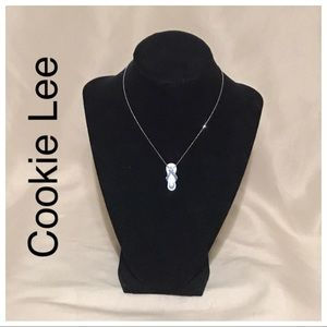 New Cookie Lee blue sandal necklace